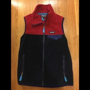 Patagonia Synchilla Snap T Vest - S - Red & Blue